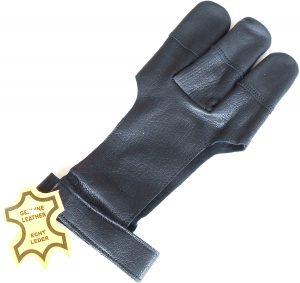 HUI JIN Color Negro Protector de Arco para Mano Derecha Piel